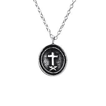 Cross mønt - 925 Sterling Sølv Plain halskæder - W23574X