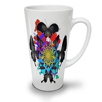 Butterfly Cool Art NEW White Tea Coffee Ceramic Latte Mug 17 oz | Wellcoda