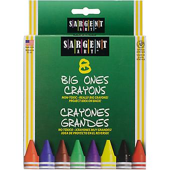 Sargent Art Big Ones Crayons-8/Pkg S22-0589