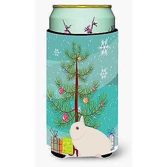 Hermelin Rabbit Christmas Tall Boy Beverage Insulator Hugger