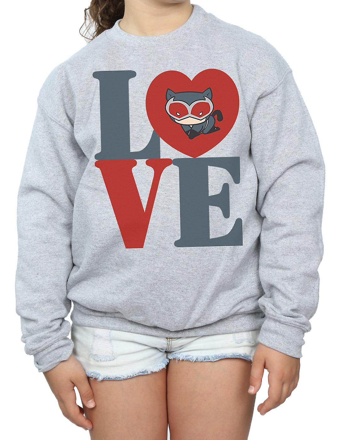 DC Comics Girls Chibi Catwoman Love Sweatshirt