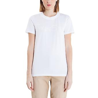 Twin set women's PS727A00808 white cotton T-Shirt