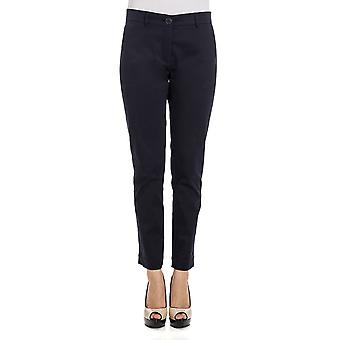 Anglomania ladies 3170159BLU blue cotton trousers