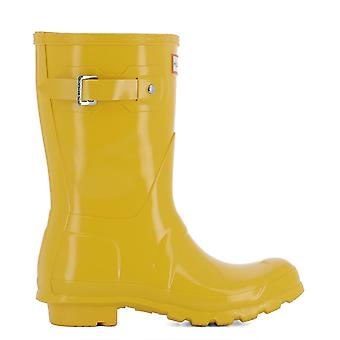 Hunter ladies WFS1000RGLRYL yellow rubber boots