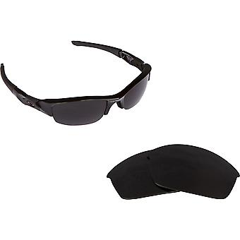 08e419700 FLAK JACKET Replacement Lenses Polarized Black by SEEK fits OAKLEY  Sunglasses