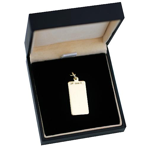 18ct Gold 26x13mm rectangular disc engraved with Medical Symbol