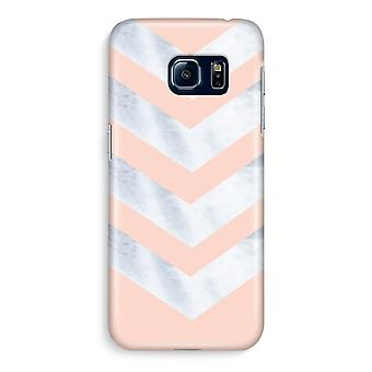 Samsung S6 Edge Full Print Case - Marble arrows