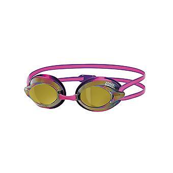 Mittelerweile Racespex Spiegel Adult Swim Goggles - gespiegelt Objektiv - Pink/lila