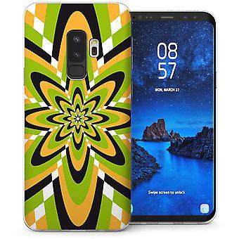 Samsung Galaxy S9 Plus psychedelischen Floral Burst TPU Gel Case – grün