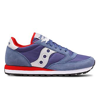 Saucony men's 2044446 blue fabric of sneakers