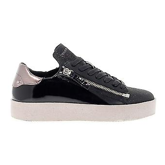 Crime London women's 25923A1720 black leather of sneakers
