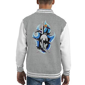 Bleach Ichigo Fire Skull Fusion Kid's Varsity Jacket