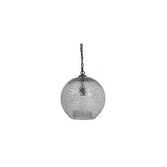 Leichte & Leben hängenden Anhänger Lampe D36x39.5cm Charyna Glas Stone Finish schwarz