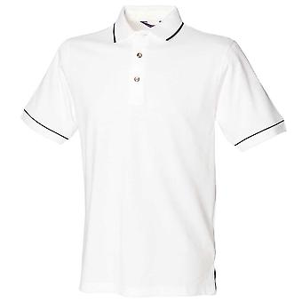 Henbury Mens Tipped Collar & Cuff Short Sleeve Cotton Polo Shirt