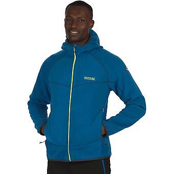 Regatta Mens Warnell viento resistente con capucha chaqueta de lana Micro