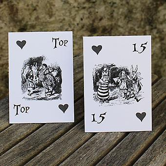 Alice in Wonderland Wedding Table Numbers White 1 - 15 Top Table