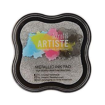 SALE - Pigment Dye Ink Pad for Adult Papercraft Projects - Metallic Silver