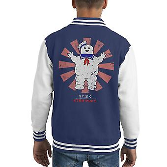 Stay Puft Retro japanische Ghostbusters Kid Varsity Jacket
