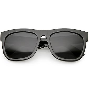 Horn surdimensionné Rimmed lunettes de soleil large Armas neutre couleur lentille 56mm