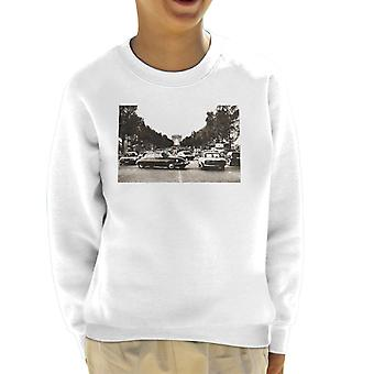 Citroen DS Paris Arc De Triomphe Kid's Sweatshirt