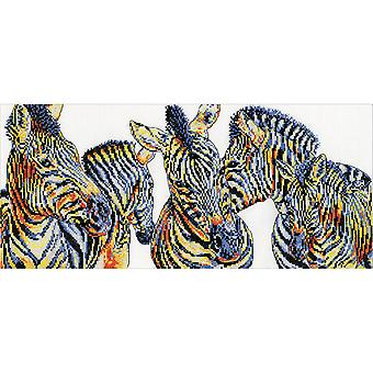 Wild Things Zebras Counted Cross Stitch Kit-8