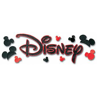 Disney Title Dimensional Stickers-Embroidered Disney W/Mickey