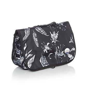 Roxy Anthracite-Love Letter Waveform Vanity Womens Toiletry Bag