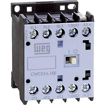 Contactor 1 pc(s) CWC012-01-30D24 WEG 3 makers 5.5 kW 230 V AC 12 A + auxiliary contact