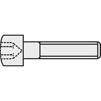 TOOLCRAFT 839670 tornillos M3 12 mm Hex socket (Allen) ISO DIN 912 4762 acero 8.8. grado negro 100 PC