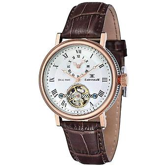 Thomas Earnshaw The Beaufort Watch - White/Rose Gold/Brown