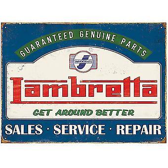 Lambretta Genuine Parts Steel Sign