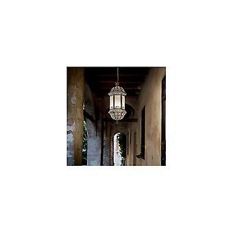 Ideal Lux Marrakech 2 Bulb Pendant Light  Argento
