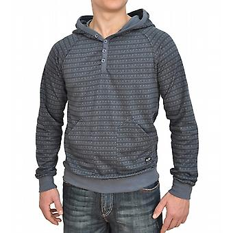 Optical Ripper Henley Ultra Slim Pullover Hoody