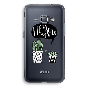 Samsung Galaxy J1 (2016) Transparent Case (Soft) - Hey you cactus