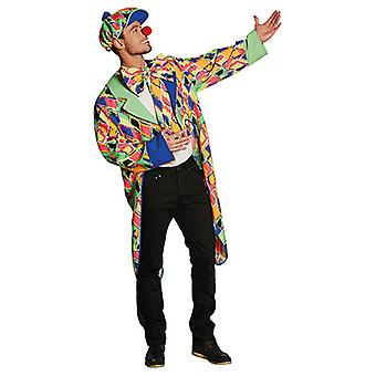 Клоун платье плед смокинг Clownjacke красочные плед костюм для мужчин