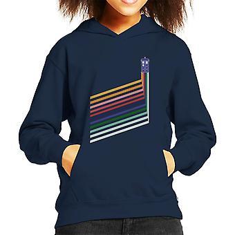 Doctor Who Tardis arco iris rayas sudadera con capucha para niños
