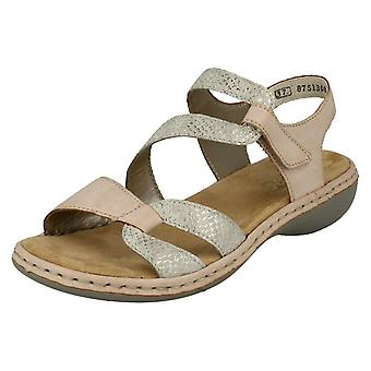Ladie Rieker Casual Slingback Sandals 65969-82 - Multi Synthetic - UK Size 5 - EU Size 38 - US Size 7