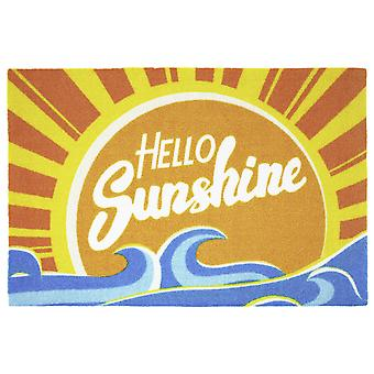 Hello sunshine doormat 100% polyamide, with non-slip PVC bottom