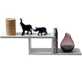 Zigzag - Wall Mounted 70cm Floating Storage / Display Shelf - White