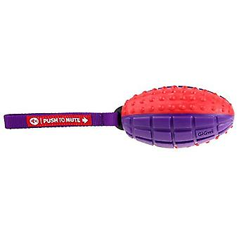 PetBrands GiGwi Push-To-Mute Dog Rugby Ball