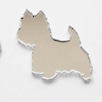 Westie / West Highland Terrier chien Mini Craft taille miroirs acryliques (10Pk)