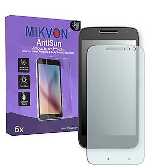 Lenovo Moto G4 Play Screen Protector - Mikvon AntiSun (Retail Package with accessories)