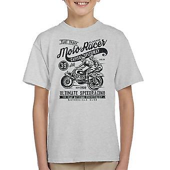 Vintage Moto Racer kapital Speedway Kid's T-Shirt