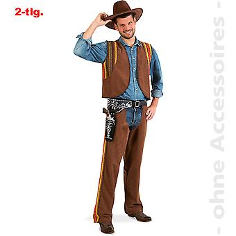 Cowboy costume of chaps mens Western of Wild West Gunslinger men costume