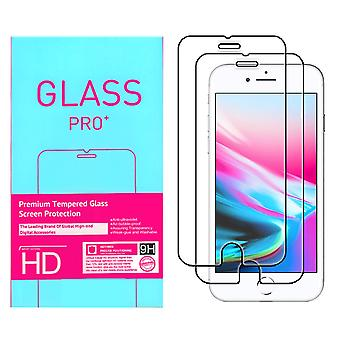 2 tempered glass iPhone 8 Plus screen protector Retail 2i1
