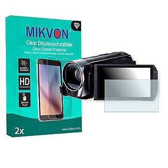 Canon Legria HF R37 Screen Protector - Mikvon Clear (Retail Package with accessories)