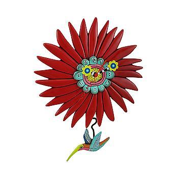 Allen Designs Humming Around Hummingbird and Flower Wall Clock