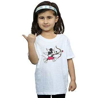 Disney Girls Mickey Mouse Love Cherub T-Shirt