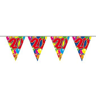 Pennant chain 10 m number 20 years birthday decoration party Garland