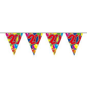 Vimpel kjeden 10 m nummer 20 års bursdag dekorasjon partiet Garland